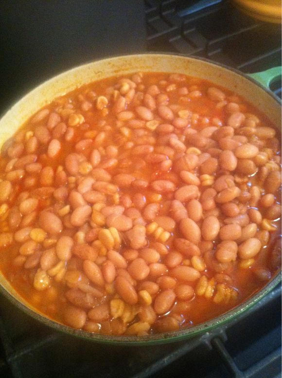 Beans and Chicos!